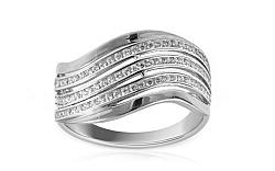 Zlatý prsteň so zirkónmi Danezi white 2 IZ8892A