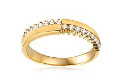 Zlatý prsteň so zirkónmi IZ10710