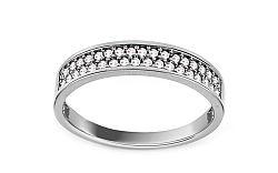 Zlatý prsteň so zirkónmi IZ11156A