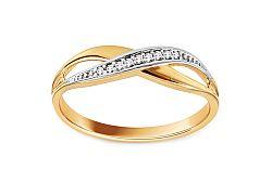 Zlatý prsteň so zirkónmi IZ11158