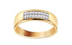 Zlatý prsteň so zirkónmi IZ11275