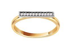 Zlatý prsteň so zirkónmi IZ11372