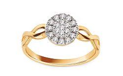 Zlatý prsteň so zirkónmi IZ11408