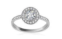 Zlatý prsteň so zirkónmi Jacklyn white IZ8443A