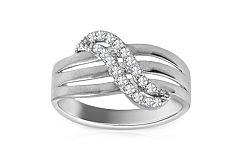 Zlatý prsteň so zirkónmi Jules white IZ8896A