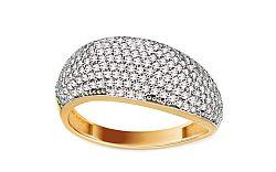 Zlatý prsteň so zirkónmi Lorin IZ11020