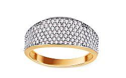Zlatý prsteň so zirkónmi Lorraina IZ11019
