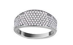 Zlatý prsteň so zirkónmi Lorraina white IZ11019A