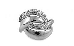 Zlatý prsteň so zirkónmi Nezzi big white IZ8890A