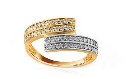 Zlatý prsteň so zirkónmi Taris 1 IZ8887