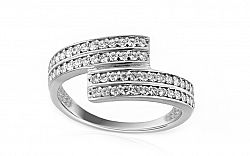 Zlatý prsteň so zirkónmi Taris 1 white IZ8887A