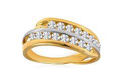 Zlatý prsteň so zirkónmi Taris IZ8899