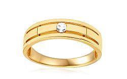 Zlatý prsteň so zirkónom IZ10782