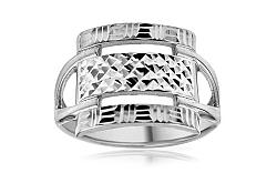 Zlatý prsteň Square s gravírom IZ10730A