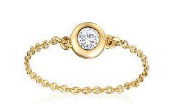 Zlatý retiazkový prsteň s diamantom IZBR270