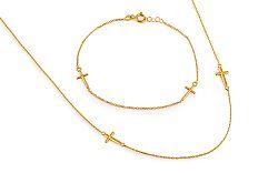 Zlatý set s krížikmi IZ11218S