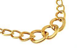 Zlatý výrazný dámsky náhrdelník IZ9349 f0d89c84742