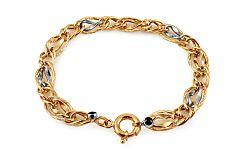 Zlatý výrazný kombinovaný náramok IZ10895