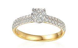 Zlatý zásnubný diamantový prsteň 0.490 ct Elizeth IZBR351