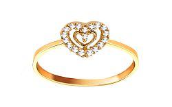 Zlatý zásnubný prsteň Anabel 1 CSRI901