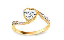 Zlatý zásnubný prsteň Anabel 4 CSRI914