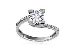 Zlatý zásnubný prsteň Beloved KORI192