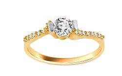 Zlatý zásnubný prsteň Isarel 16 CSRI798