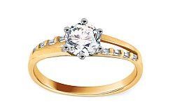 Zlatý zásnubný prsteň Isarel 18 CSRI823