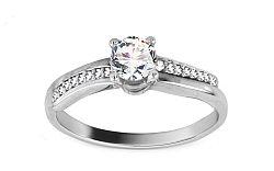 Zlatý zásnubný prsteň Isarel 22 white CSRI813A