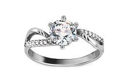 Zlatý zásnubný prsteň Isarel 23 CSRI803A