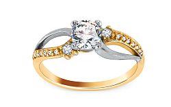 Zlatý zásnubný prsteň Isarel 29 CSRI815