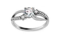 Zlatý zásnubný prsteň Isarel 29 white CSRI815A