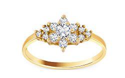 Zlatý zásnubný prsteň Isarel 5 CSRI729