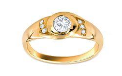 Zlatý zásnubný prsteň Jaen CSRI908