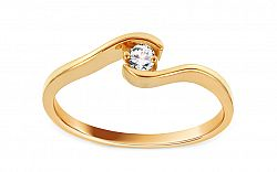 Zlatý zásnubný prsteň Magic 3 CSRI2084