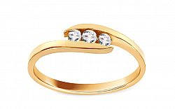 Zlatý zásnubný prsteň Pretty 7 CSRI1040Y