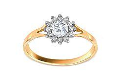 Zlatý zásnubný prsteň Princess 6 CSRI1986YW