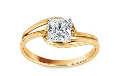 Zlatý zásnubný prsteň Ramona 10 CSRI980