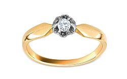 Zlatý zásnubný prsteň Ramona 6 CSRI928