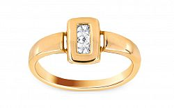 Zlatý zásnubný prsteň Ramona 8 CSRI684