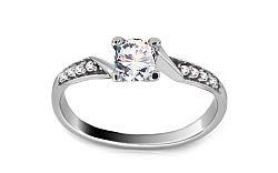 Zlatý zásnubný prsteň Romantic CSRI807A