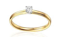 Zlatý zásnubný prsteň s diamantmi 0.100 ct Becci IZBR360