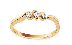 Zlatý zásnubný prsteň s diamantmi 0.100 ct Becka DB0068