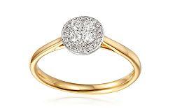 Zlatý zásnubný prsteň s diamantmi 0.230 ct Melisma IZBR358