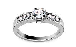 Zlatý zásnubný prsteň s diamantmi 0,53 ct Sebastiana KU391A
