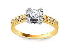 Zlatý zásnubný prsteň s diamantmi Assana ARBR38