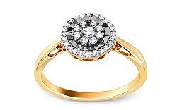 Zlatý zásnubný prsteň s diamantmi Aviva KU358