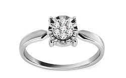 Zlatý zásnubný prsteň s diamantmi Chaela KU438