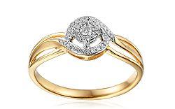 Zlatý zásnubný prsteň s diamantmi Clara IZBR247