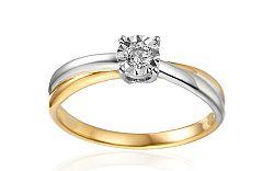 Zlatý zásnubný prsteň s diamantmi Clio IZBR244L